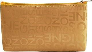 Bageek Makeup Bag Zipper Letter Print Storage Bag Toiletry Organizer for Travel (Gold)