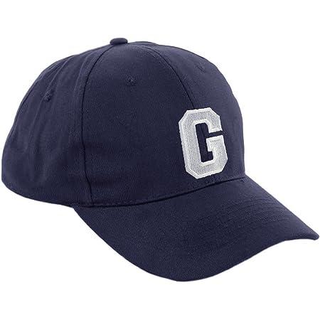 Gorra de béisbol infantil, diseño con letras A-Z, unisex, color azul marino