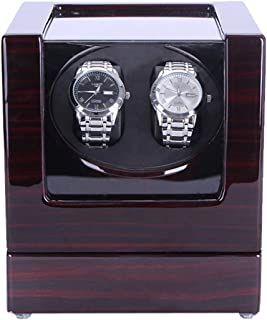 Automatic Double Watch Winder, Quiet Motor 5 Rotation Modes Self Winding Watch Rotator Box