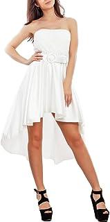 Toocool - Vestito Donna Mini Abito diciottesimo Cerimonia Asimmetrico Raso JL-9520