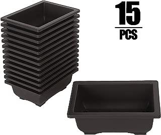 Best plastic rectangular flower pots Reviews