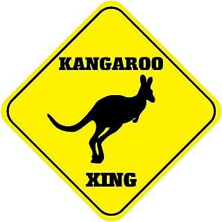 Fastasticdeals Kangaroo Crossing Funny Metal Aluminum Novelty Sign