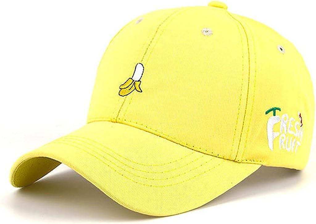 HEARTISIAN Creative Fresh Fruit Banana Embroidery Baseball Cap Adjustable Cotton Dad Hat