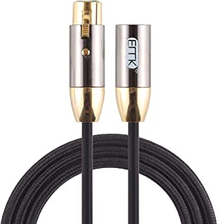 Network parts EMK XLR Male to Female Gold-plated Plug Cotton Braided Cannon Audio Cable for XLR Jack Devices, Length: 1m (...