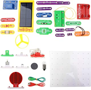 HOMYL 1000-in-1 38pcs DIY Electronics Learning Kits Electricity Magnetism Experiment Building Blocks Project Kids Educational Toy -W-688