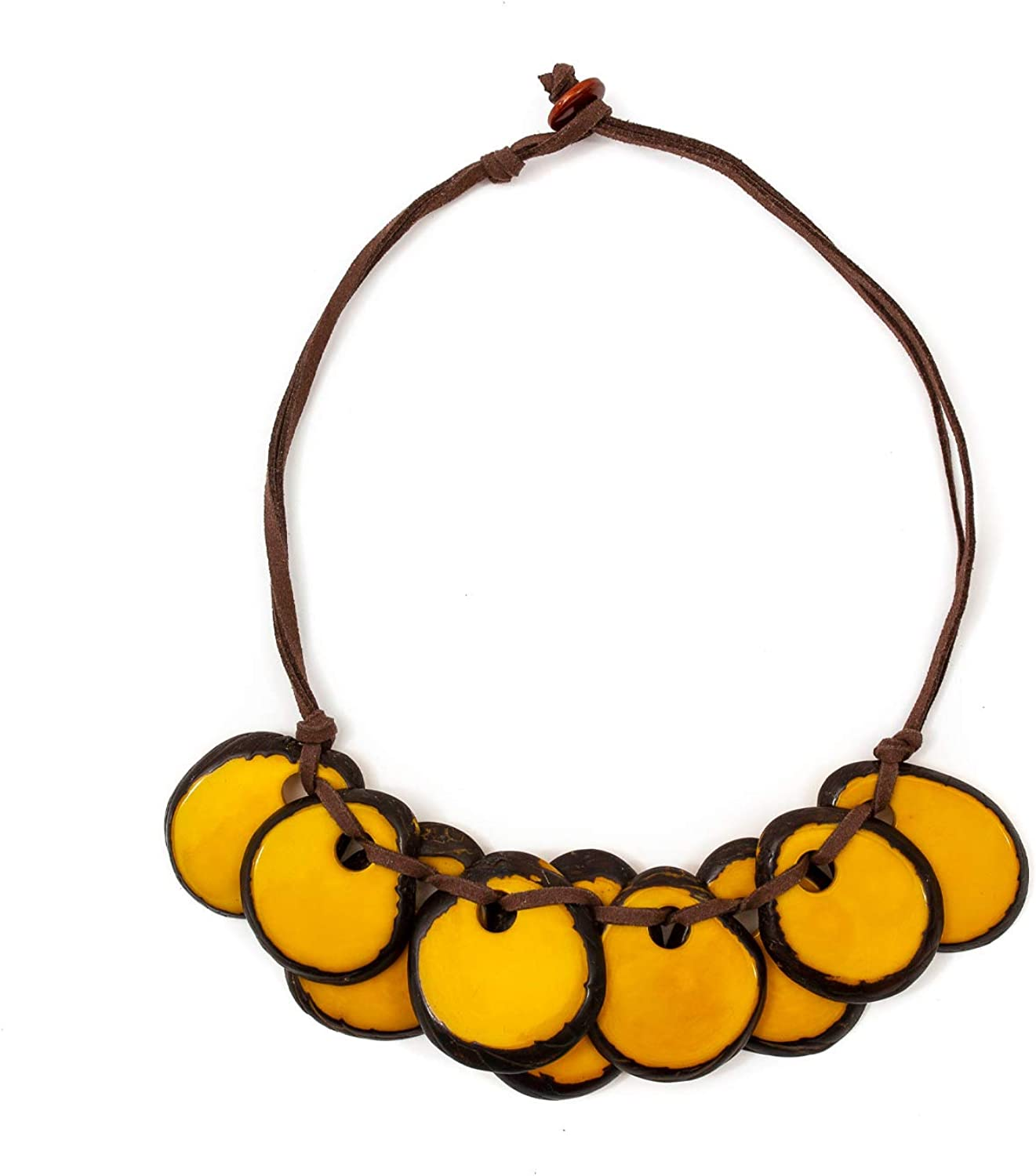 Tagua Luchie Fashion Necklace Tagua Nut Ethical Bead Slow Fashion Beaded Wooden Eco Friendly Boho Unique Handmade Statement Jewelry