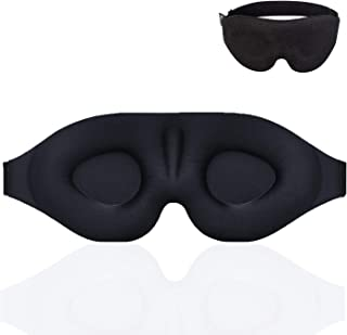 Sleep Mask for Women Men, Eye mask for Sleeping 3D Contoured Cup Blindfold, Concave Molded Night Sleep Mask, Block Out Lig...