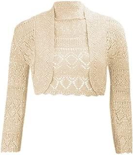 Momo&Ayat Fashions Ladies Girls Crochet Metallic Lurex Cropped Bolero Shrug US Size 6-12