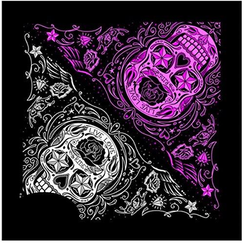 Bandana Tejido pañuelo Biker Skull Lady Rider de Calavera México