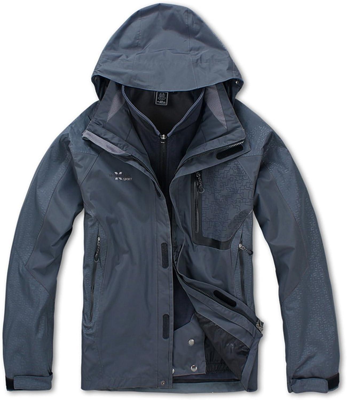 XMS Men's 3in1 Windproof Outdoor Waterproof Breathable Jacket Coat Windbreaker