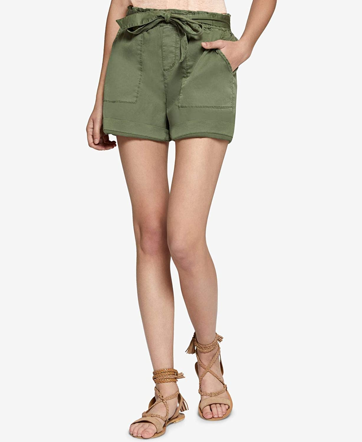 Sanctuary Womens Twill Flat Front Casual Shorts