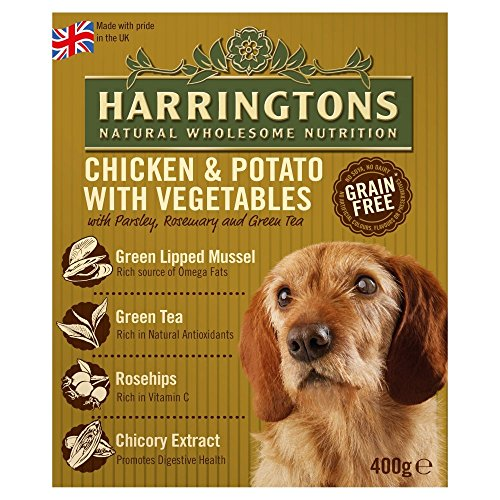 Harringtons Huhn und Kartoffel Nass Hundefutter (8 Tassen) (8 x 400g) (kann variieren)