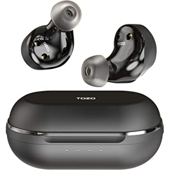 TOZO NC9 Wireless Earbuds ANC Active Noise Cancelling Headphones Touch Control Bluetooth 5.0 in Ear TWS Stereo Earphones with Charging Case, Built in Mic Headset Premium Deep Bass for Sports,Black
