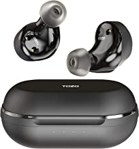 TOZO NC9 Hybrid Active Noise Cancelling Wireless Earbuds, ANC in Ear Headphones Bluetooth 5.0 TWS Stereo Earphones, Immersive Sound Premium Deep Bass Headset,Black