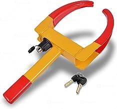 Zone Tech Wheel Lock Security Tire Clamp Premium Quality Heavy Duty Anti- Theft Protective Vehicle Wheel Lock