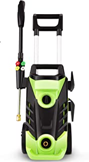 Homdox 3350 PSI Electric Pressure Washer, 2.5 GPM Electric Power Washer, 1800W High Pressure Washer, Professional Washer Cleaner with 4 Nozzles (Green)