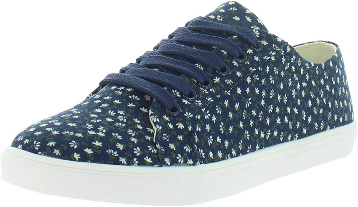 Masseys Womens Camila sold out Floral Popular products Lace-Up Fashion Sneakers