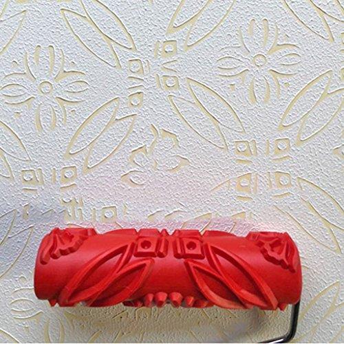 Rodillo relieve con dibujos para pintar paredes Rodillo estampador, la pintura del arte de la herramienta, textura de la pintura de la herramienta, la diatomea barro herramienta, pintura arte de la pa