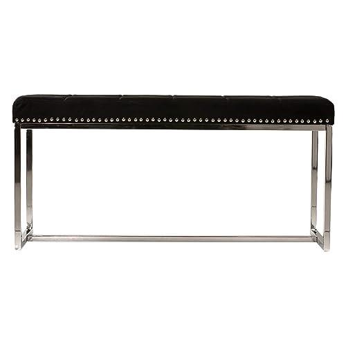 Sensational Black Modern Entryway Bench Amazon Com Andrewgaddart Wooden Chair Designs For Living Room Andrewgaddartcom