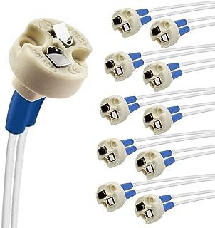 DiCUNO Bi-Pin Base, G4, G6.35, GY6.35, GX5.3, GU5.3, MR16, GZ4 MR11, Halogen Incandescent Led Socket Ceramic Wire Connector Base Socket (10pcs)