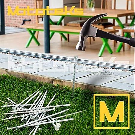 Kunstrasen Schneidemesser Schere gr/üne N/ägel Installation und Reparaturwerkzeuge Synthetic Gras-Montage-Set 40 St/ück
