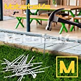 Mototeks Turf Nails 6' Stakes Galvanized for Artificial Turf Fake Grass Synthetic Lawn (500)