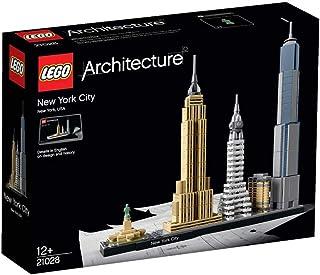 مكعبات بناء بشكل تصميم معماري لمدينة نيويورك بالوان متعددة من ليغو، موديل 21028