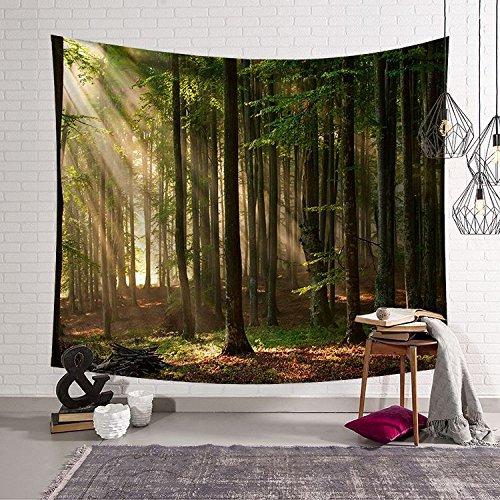 mmzki Tapisserie/Wanddecke/Strandtuch Green Plant Forest 2 200x150