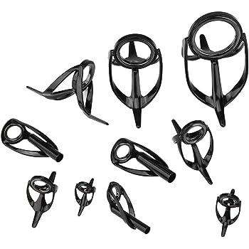 10pcs guida di canna da pesca anello occhio punta anelli superiori asta kit