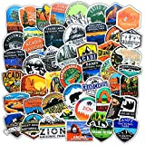 National Park Stickers (50 pcs) | Adventure Nature Outdoors Hiking Camping Skiing Travel Stickers | Cool Suitcase...