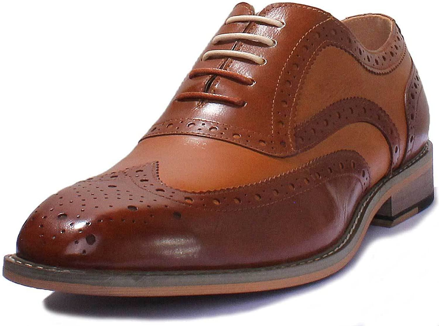 Justin Reece Grant Two Tone Leather Lace up Formal Brogue