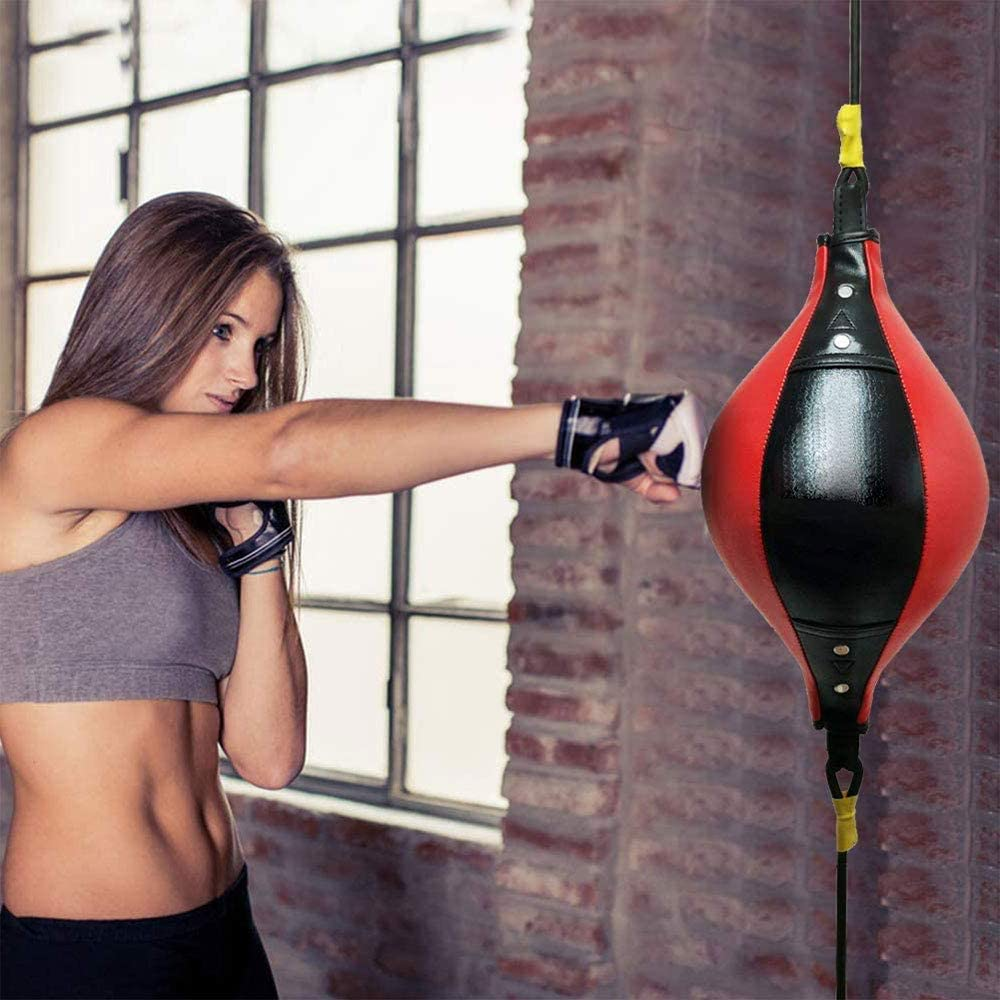 Double End Boxing Dodge Speed Ball Inflatable Floor to Ceiling Punching Bag ❇