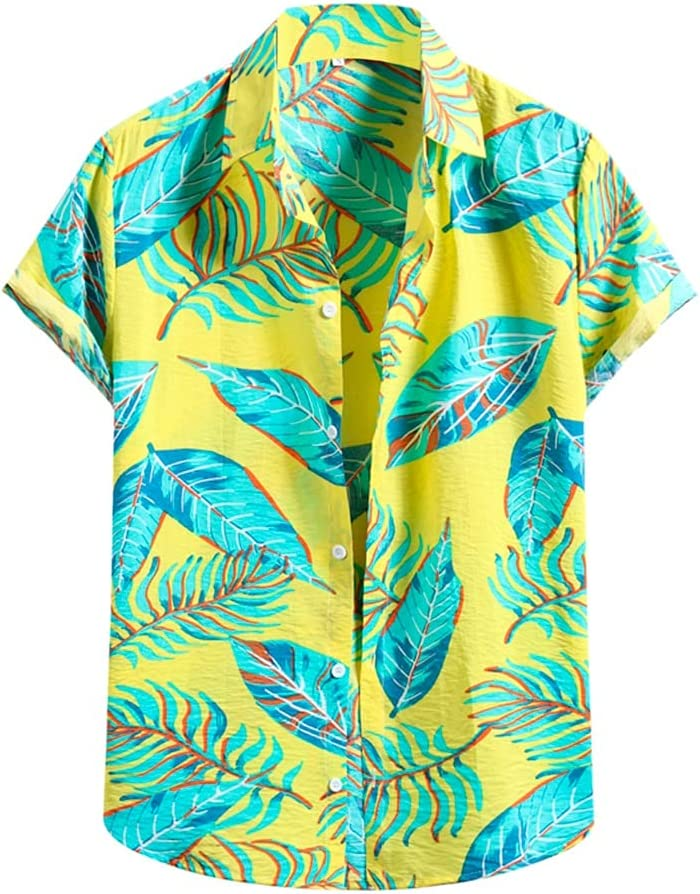 AAKKY 2 Pcs Men Summer Clothing Fashion List price Mail order cheap Flower Casual Shor Shirt