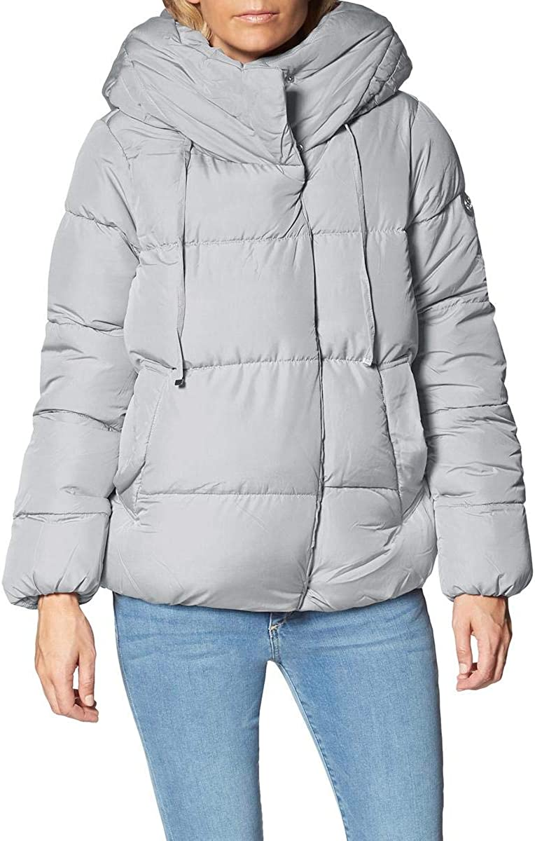 Jessica Simpson Women's Oversized Quilted Winter Puffer Coat with Pillow Collar Hood