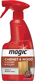 Magic Wood Cleaner and Polish – 14 Fluid Ounce – Furniture Table Chairs Wood..