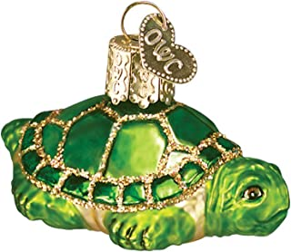 Old World Christmas Ornaments: Small Turtle Glass Blown Ornaments for Christmas Tree