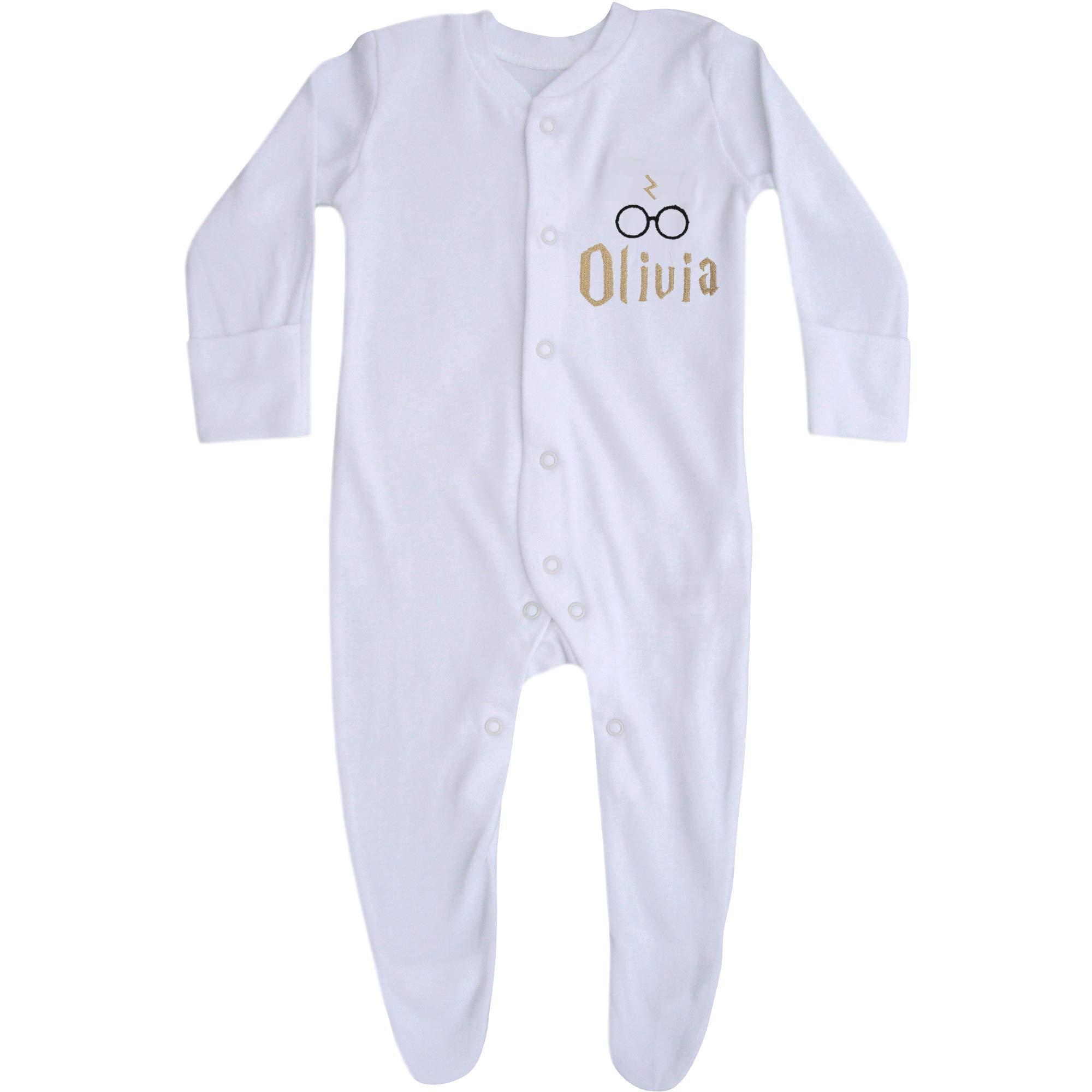TeddyTs Personalised White Baby Sleepsuit