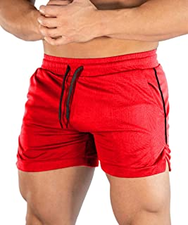 Malavita Men's Gym Workout Shorts Running Short Boxing Shorts with Pockets