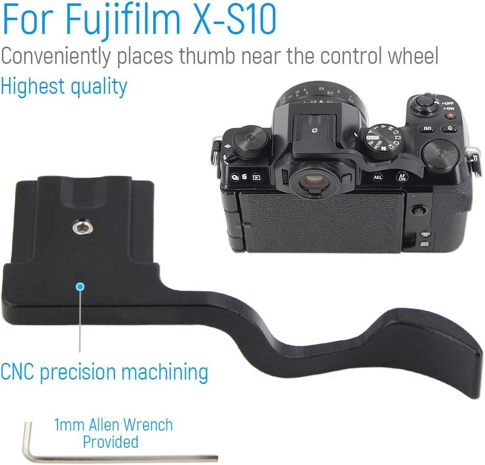 Kamera Daumengriff Thumbs Up Grip f/ür Fujifilm X-S10 Black