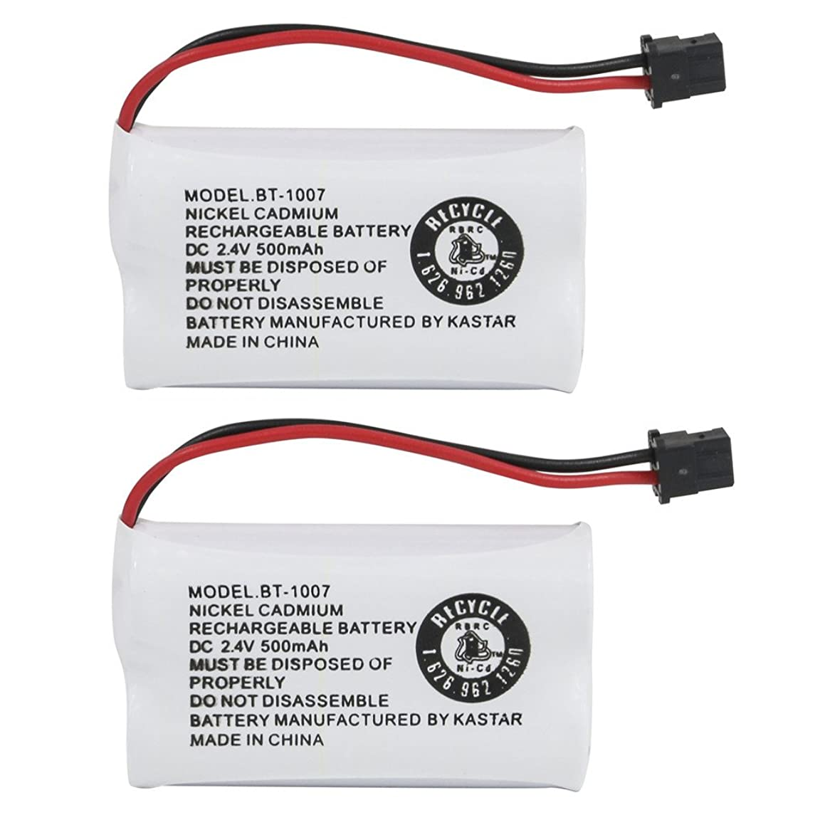 Kastar 2-PACK BBTY0651101 model BT1007 Cordless Phone Battery for Uniden BT-1007 BT-1015, CEZAI2998 DECT1340 DECT1363 DECT1363BK DECT1363-2 DECT1480 Series DECT1560 DECT1580 DECT1588 EZAI2997 EZI2996