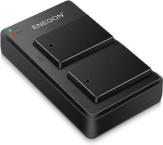 ENEGON Pack de 2 baterías LP-E17 de 1040mAh para cámara con cargador Micro USB. Para cámaras SLR digitales Canon Rebel SL2 T6i T6s T7i EOS M3 M5 M6 EOS 200D 77D 750D 760D 800D 8000D KISS X8i RP
