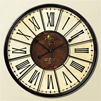 GRTEW 20-inch Retro Mediterranean European Lounge of The Personality of The Creative Industry Clock