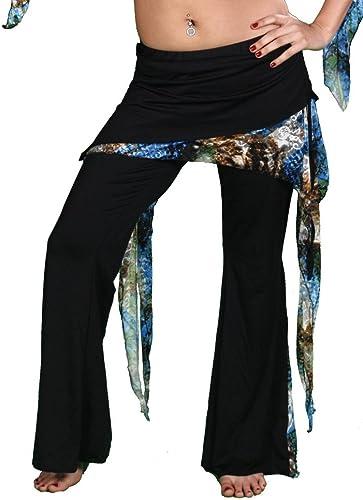 Miss Belly Dance La danse du ventre lycra et pantalon de yoga à motifs léopard floral hiptastiki pour femme