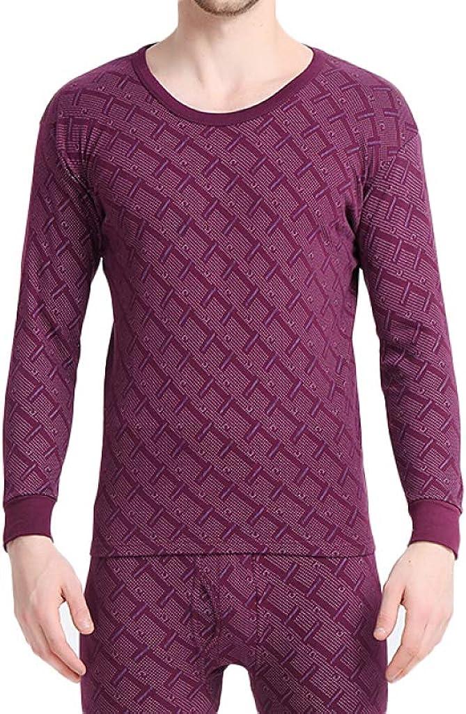 Thermal Underwear for Men Ultra Soft Cotton Top Bottom Base Layer Winter Warm Long John Set
