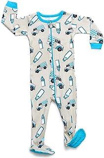 Leveret Baby Boys Girls Footed Pajamas Sleeper 100% Organic Cotton Kids    Toddler Pjs Sleepwear 1ff591ad6