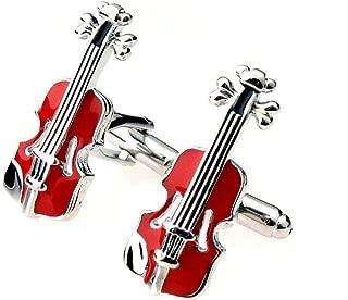 Classical Copper Plating Wedding Dress Violin Design Cuff Links Cufflinks