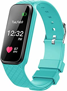 Fitness Tracker with heart rate monitor Color Screen Smart Slim Wristband Pedometer Smart Bracelet Sleep Monitor, Waterproof Activity Tracker Smart Watch for Android & IOS
