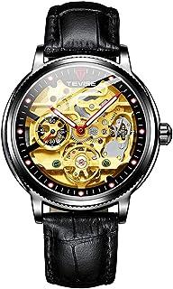 TEVISE Men Automatic Mechanical Watch Analog Chronograph Business Wrist Watch 30M Waterproof Luminous Dial Dress Watch