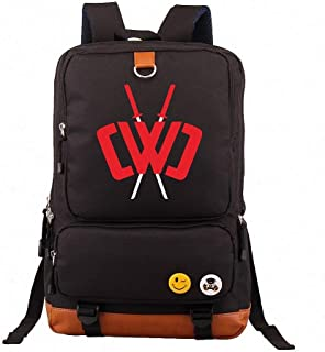 Canvas Shoulder Daypack, Chad Wild Clay Backpack, Anime Backpack, with USB Charging Port and Audio Jack, for Work College School Outdoor