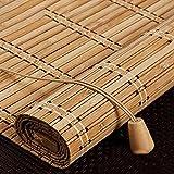 Hanghaijia BARNA Bamboo Naturale BARNA, Bamboo Esterno BARNA, Tenda Roman Ruller, 75% Protezione Solare Schermo Privacy, Traspirante/Eco-Friendly/Naturale (Size : 80x160cm/32x63in)